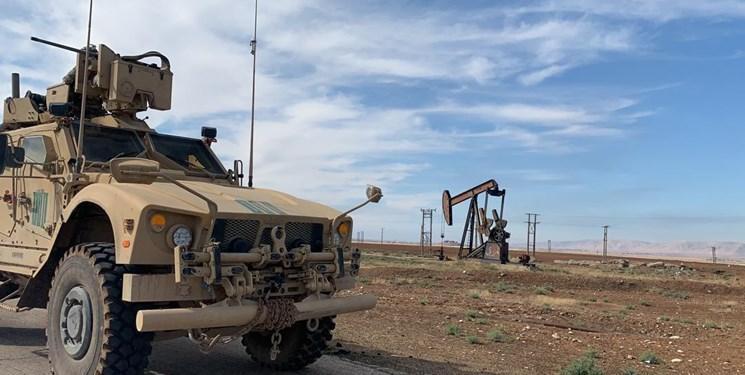 تصاویر ، گشت زنی نیروهای آمریکایی اطراف چاه های نفتی سوریه