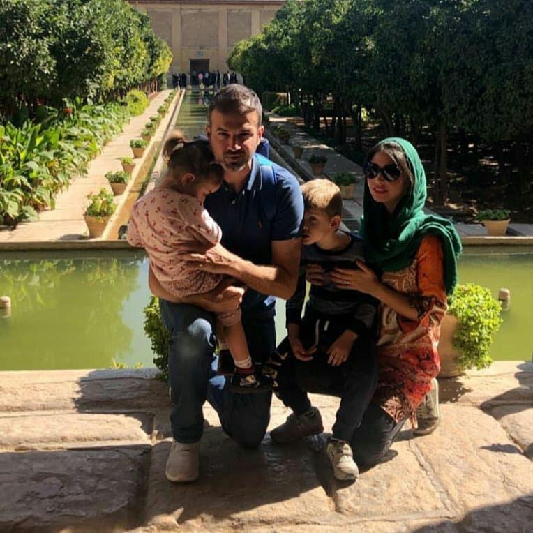 استراماچونی و همسرش در شیراز (عکس)