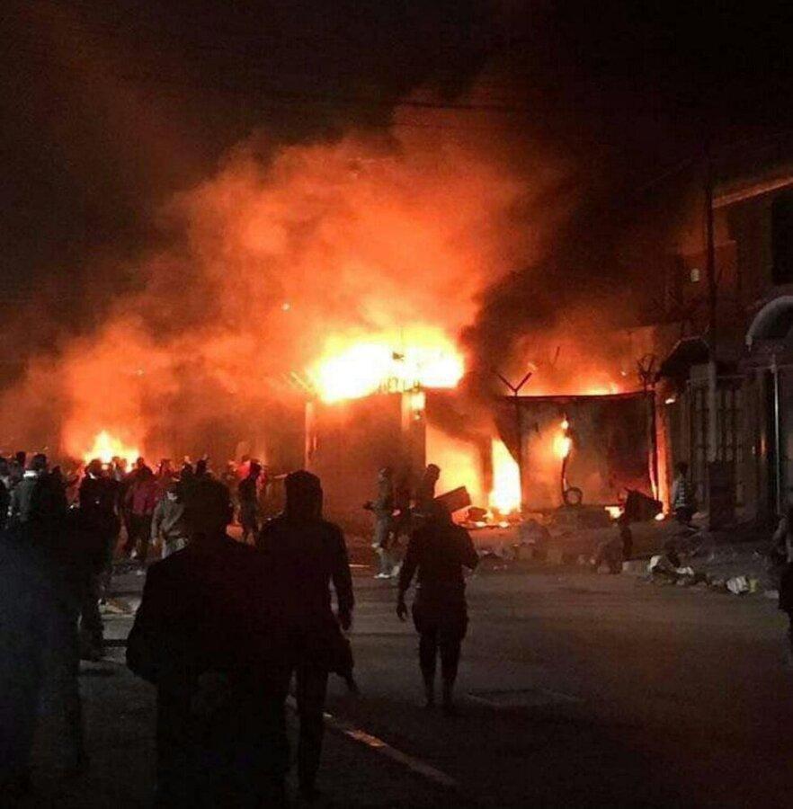 آتش سوزی مجدد در محل کنسولگری ایران در نجف
