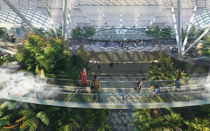 پروژه جواهر فرودگاه چانگی در سنگاپور افتتاح شد