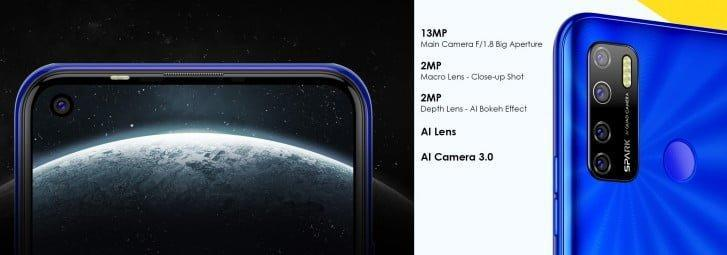گوشی Spark 5 تکنو با دوربین چهارگانه