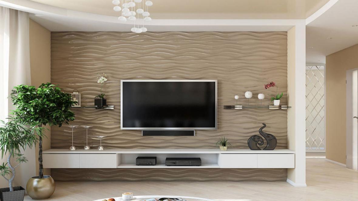 انواع مدل کاغذ دیواری پشت تلویزیون برای سلیقه های مختلف