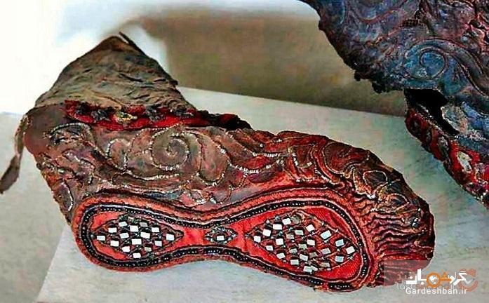 کفش باستانی سکایی 2300 ساله ای در رشته کوه آلتای کشف شد!